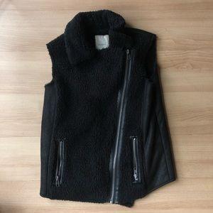 Fur and snakeskin vest